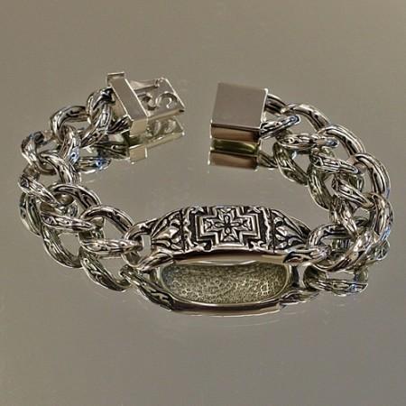 Celtic Cross Curb Link Bracelet