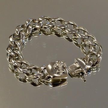 Fleur De Lis Curb Link Bracelet