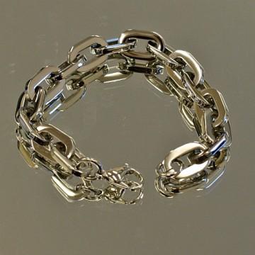 Oblong Double Link Bracelet