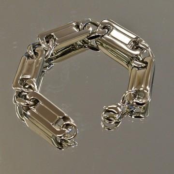 Solid Flat Link Bracelet