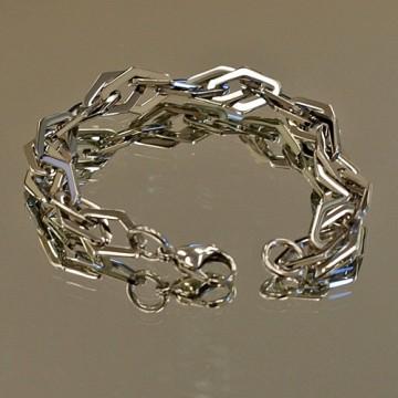 Double Diamond Link Bracelet
