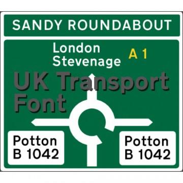 Transport MED and HEAVY TTF Font